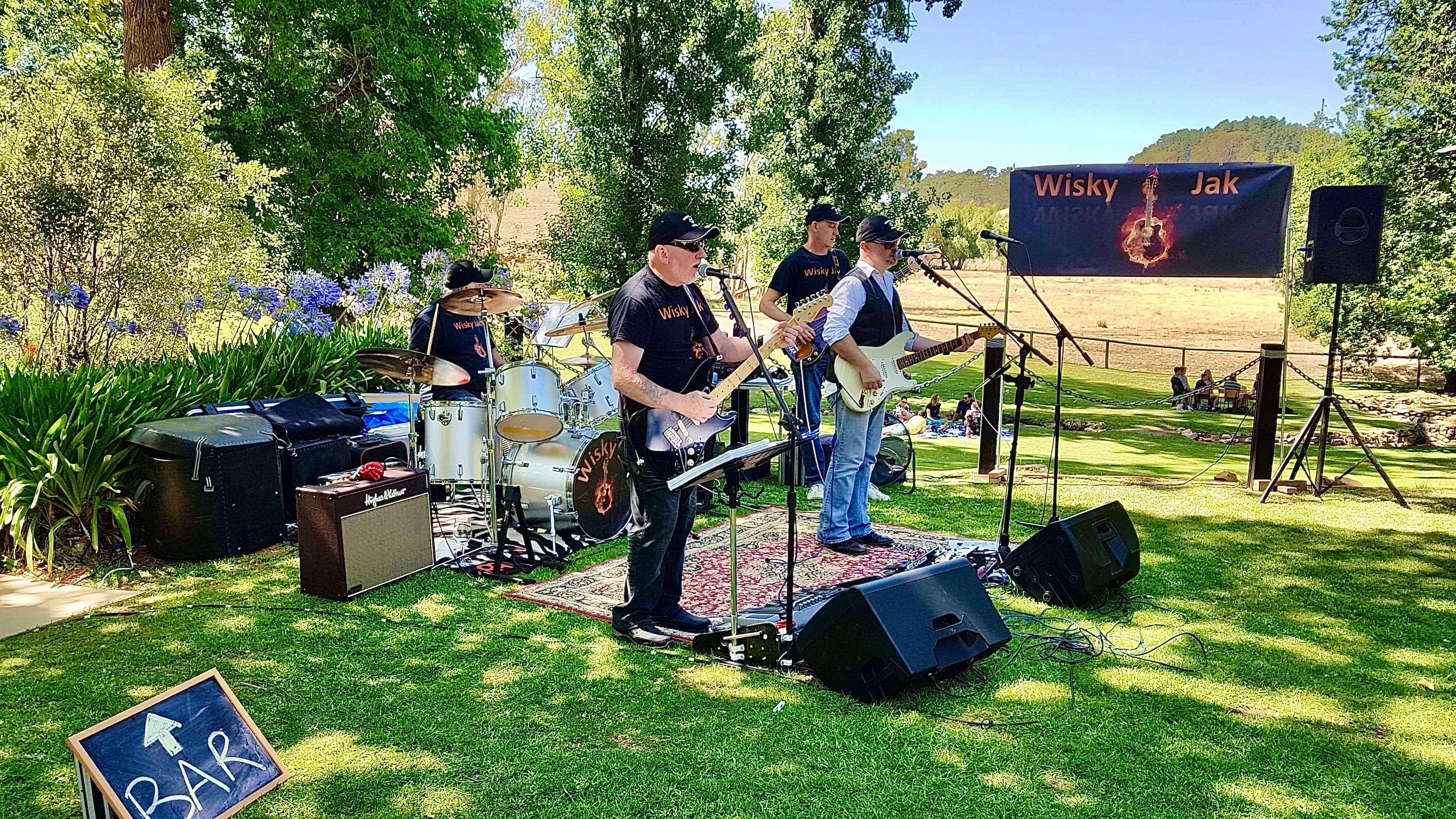 Angas Plains Wines Live in the Vines with the band -Wisky Jak - Accommodation Brisbane