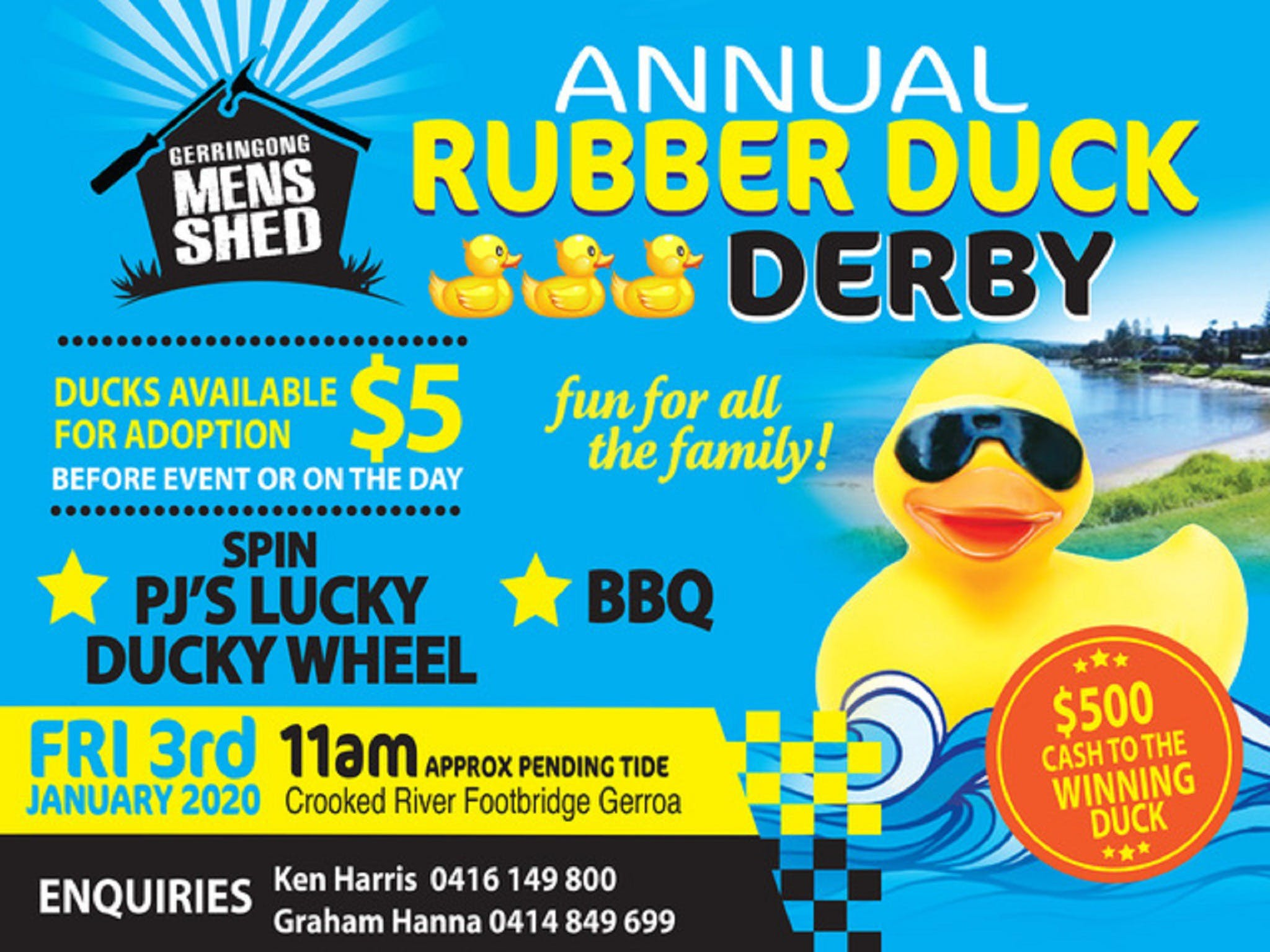 Gerringong Mens Shed Annual Duck Derby - Accommodation Brisbane