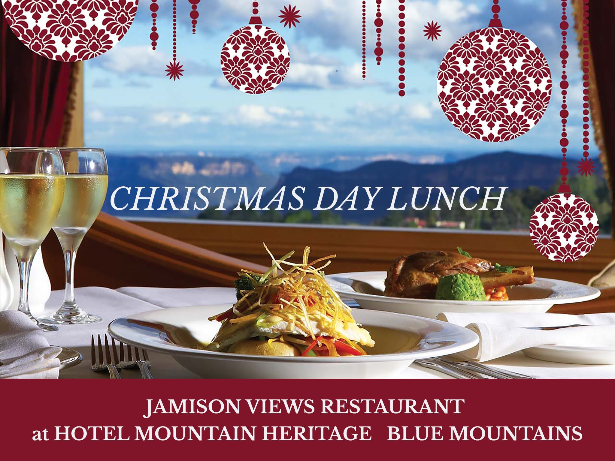 Christmas Day Lunch Hotel Mountain Heritage - Accommodation Brisbane