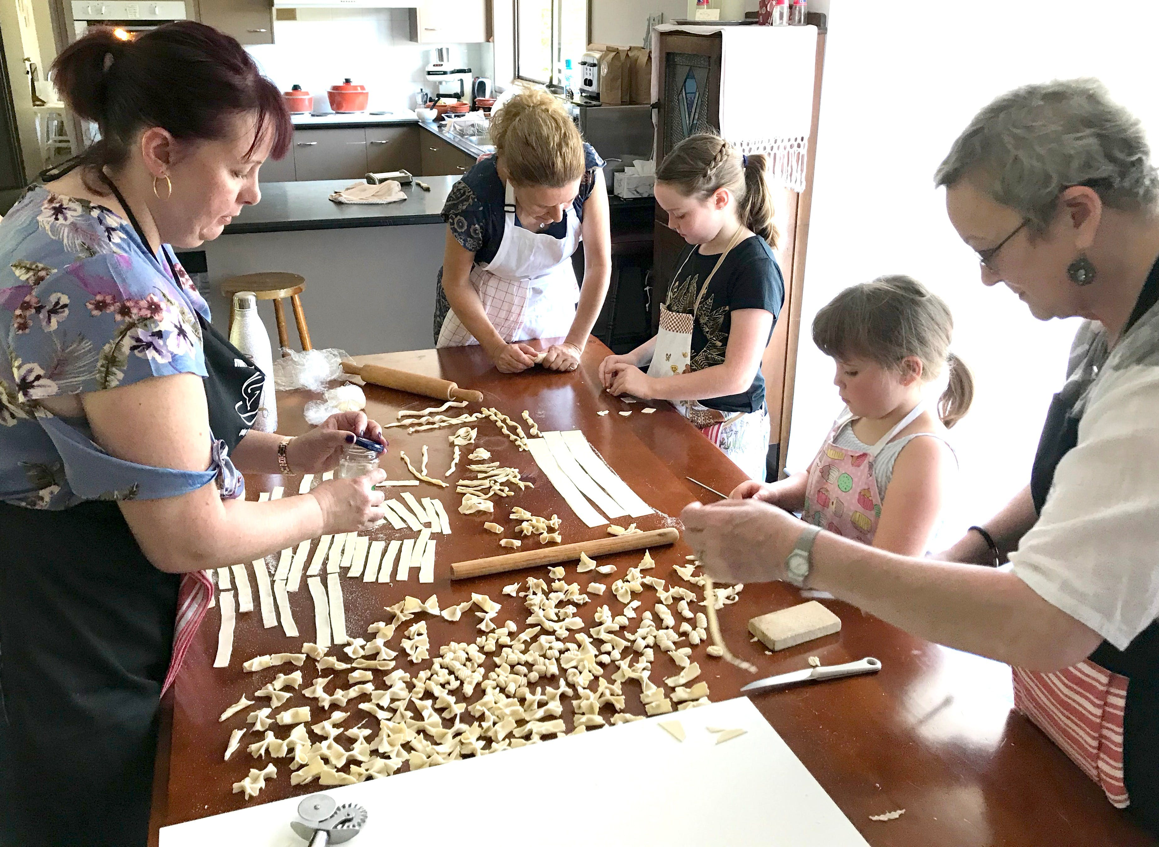 Kids Pasta Making Class - hands on fun at your house - Accommodation Brisbane