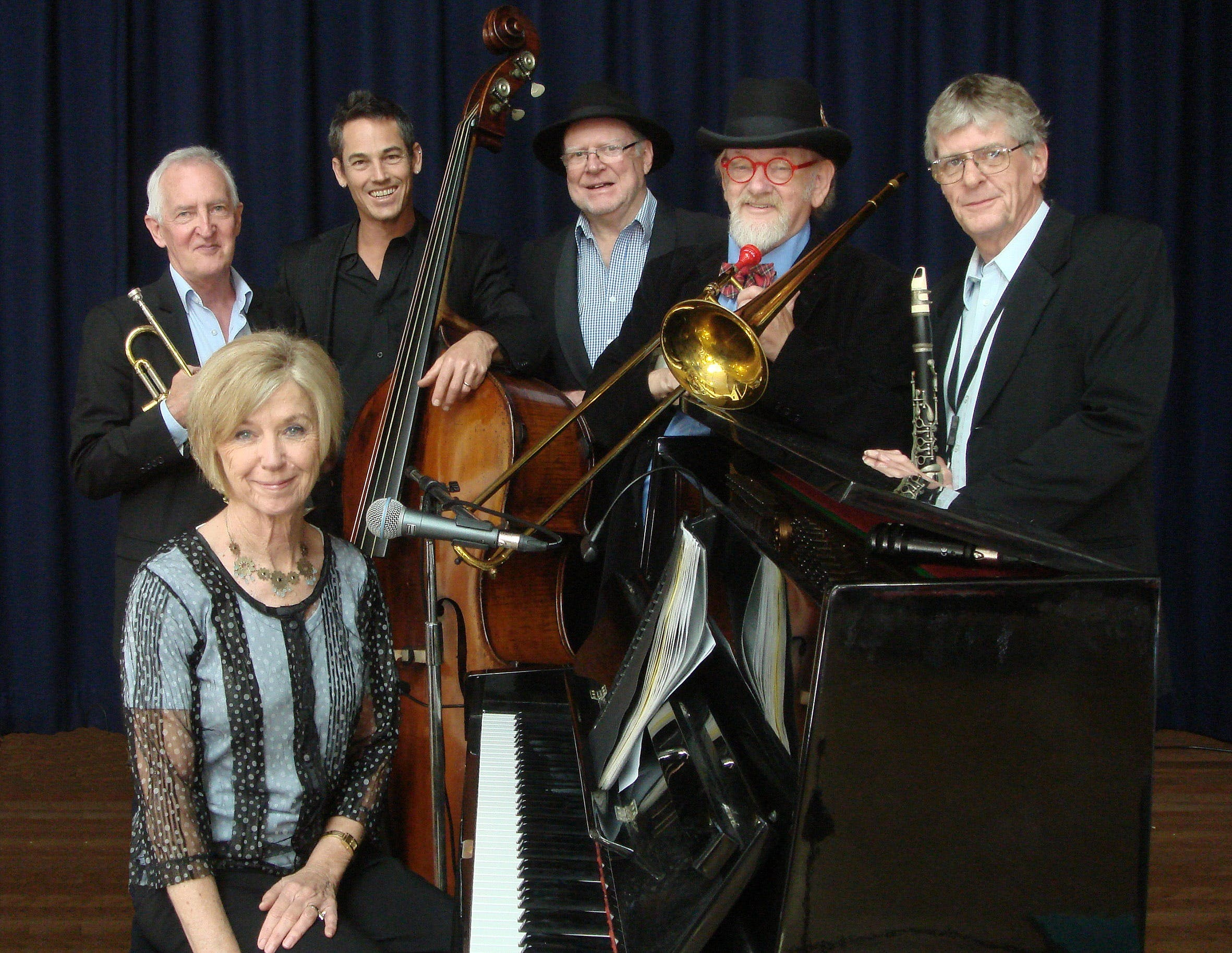 The Caxton Street Jazz Band in the Swigmore Hall at Robert Channon Wines - Accommodation Brisbane