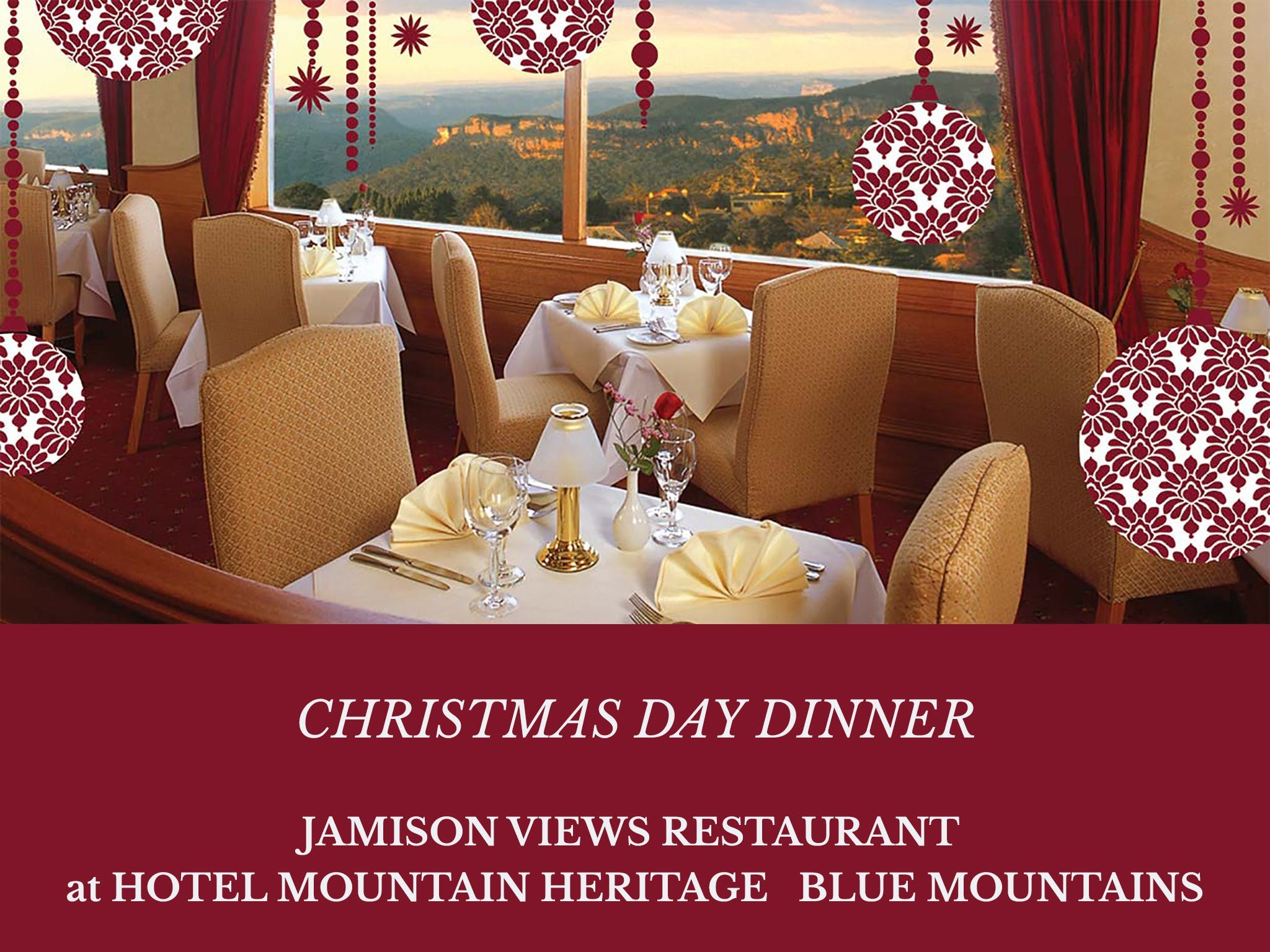 Christmas Day Dinner Hotel Mountain Heritage - Accommodation Brisbane