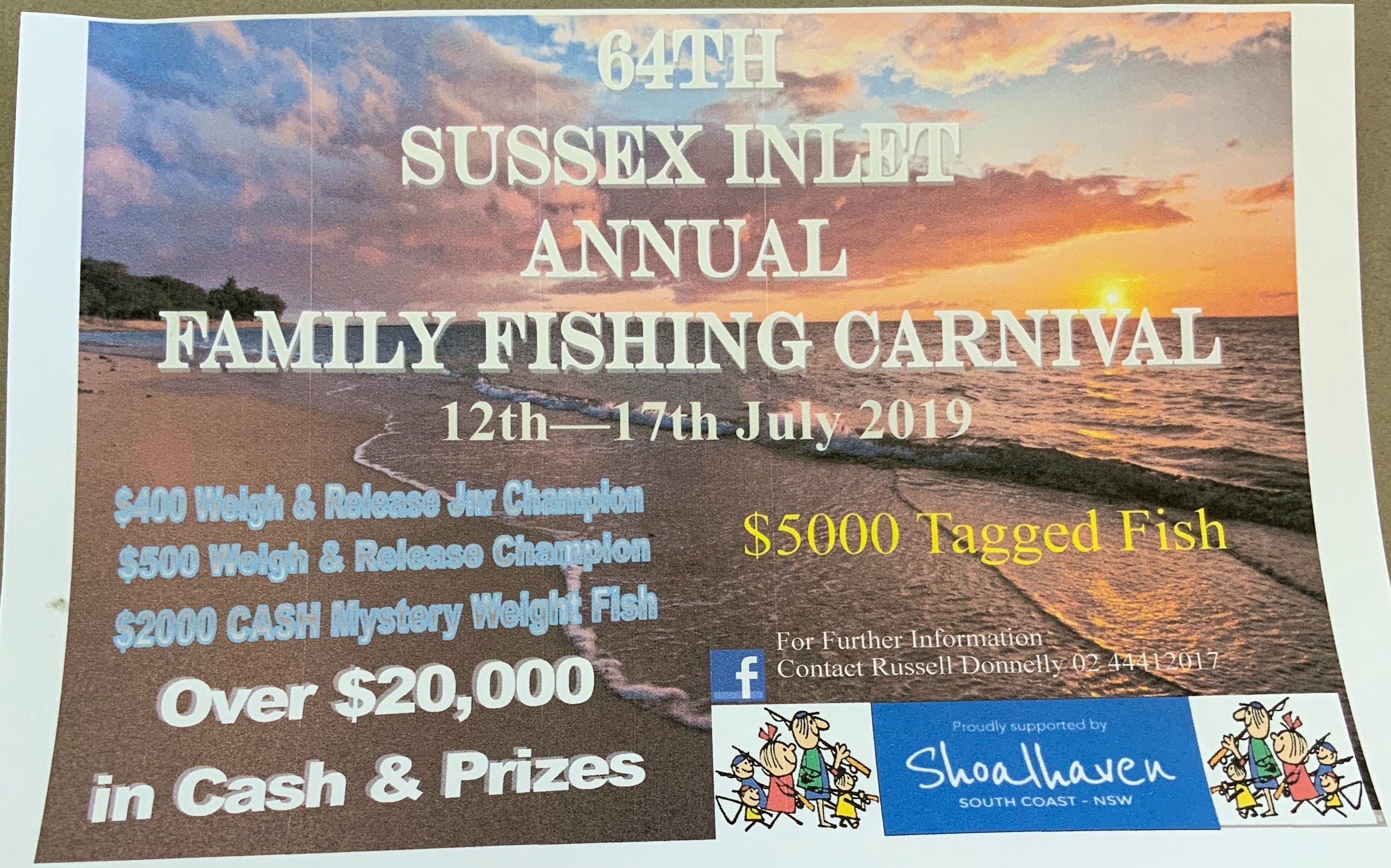 The Sussex Inlet Annual Family Fishing Carnival - Accommodation Brisbane