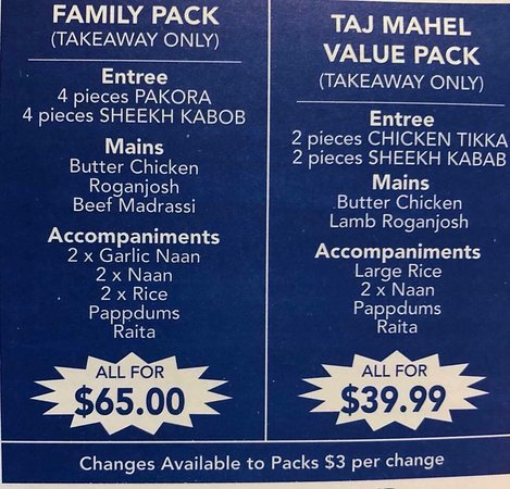 Taj Mahal Indian Restaurant - Accommodation Brisbane